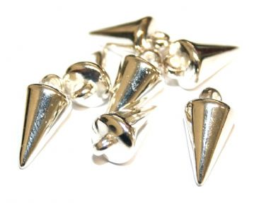 90pcs x 18mm*9mm spike beads -- spike charms -- Finish: silver